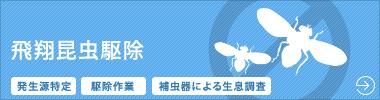 大阪 害虫 コバエ駆除 飛翔用昆虫駆除のご案内